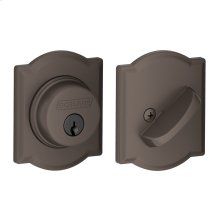 Single Cylinder Deadbolt with Camelot trim - Oil-Rubbed Bronze
