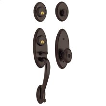 Venetian Bronze Landon Two-Point Lock Handleset