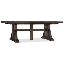 Dining Room Roslyn County Trestle Dining Table w/2 21in leaves