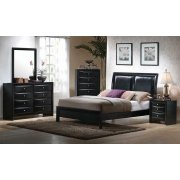 Briana Black Transitional Queen Bed Product Image
