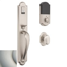 Satin Nickel with Lifetime Finish Evolved Boulder Full Knob Handleset