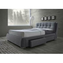 Fenbrook Transitional Grey Queen Bed