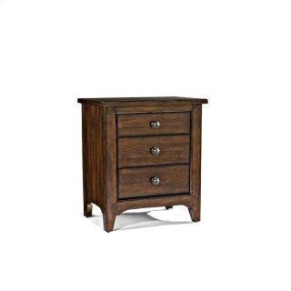 Jackson Three Drawer Nightstand