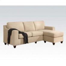 Beige Mfb Rev Chaise Sectional