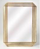 Antiqued and classic, brings elegance where ever its hung. Place this Antiqued Gold rectangle mirror over a console table in your entryway or hall to enlighten or expand the space. Hang over the mantle to bring bright sohpistication to your living area. T Product Image