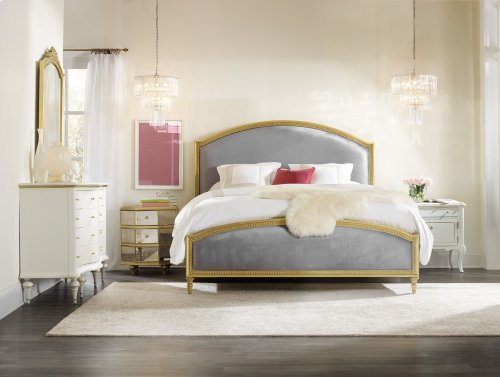 Bedroom Antoinette California King Gilded Upholstered Bed