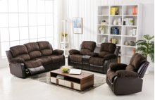 Camilla Two-Tone Champion Chocolate & Brown Loveseat