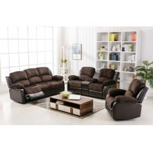 Camilla Two-Tone Champion Chocolate & Brown Recliner Chair