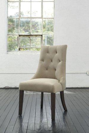 Dining Upholstered Side Chair - Mestler - Light Brown