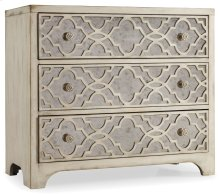 Living Room Sanctuary Fretwork Chest-Pearl Essence