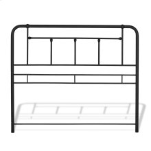Baldwin Metal Headboard Panel with Detailed Castings, Textured Black Finish, Queen