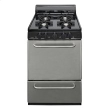 24 in. Fresstanding Gas Range in Stainless Steel