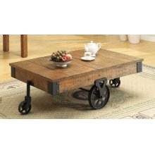 Rustic Brown Wagon Coffee Table