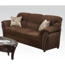 Chenille Sofa W/2 Pillows @n
