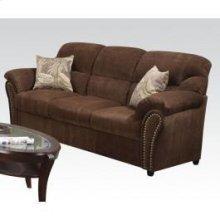 Chenille Sofa W/2 Pillows @n