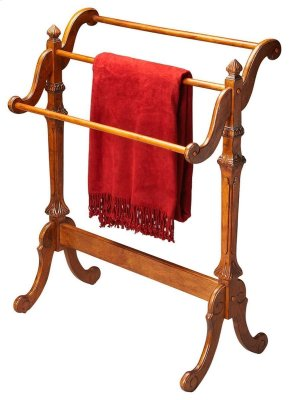 Selected solid woods. Horizontal rails for hanging quilts, comforters, bedspreads as well as blankets. Can also be used for hanging guest towels.
