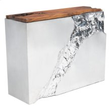 Luxe Console Table Natural & Stainless Steel