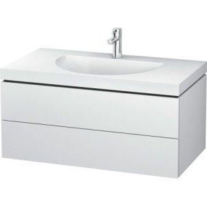 Furniture Washbasin C-bonded With Vanity Wall-mounted, White Matt