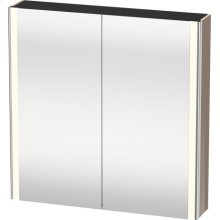 Mirror Cabinet, Cappuccino High Gloss Lacquer
