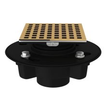 "Italian Brass ABS 2"" X 3"" Drain Kit With 3143 Matrix Decorative Cover"