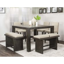 Cougar 7pc Taupe Pub Set