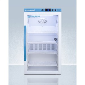 SummitPerformance Series Pharma-vac 3 CU.FT. Counter Height Glass Door All-refrigerator for Vaccine Storage