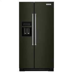 KitchenAid22.7 Cu. Ft. Counter Depth Side-by-Side Refrigerator with Exterior Ice and Water Black Stainless Steel with PrintShield(TM) Finish