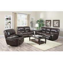 Banner Dark Brown Reclining Sofa