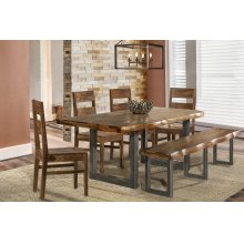 Emerson 6 Piece Dining Set (1 Bench, 4 Wood Chairs)