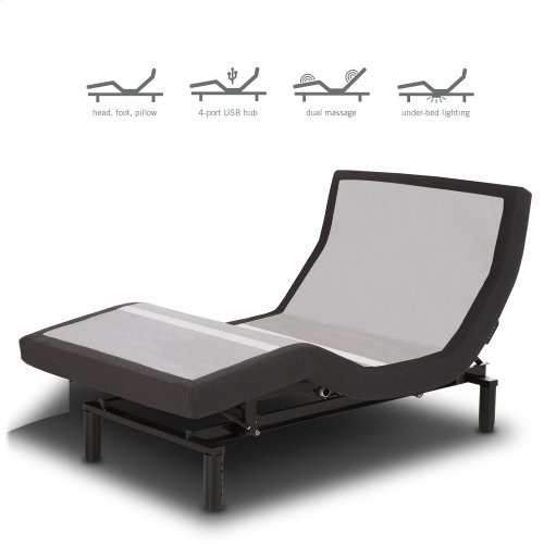 Prodigy 2.0 Adjustable Bed Base with MicroHook Retention System, Black Finish, Twin