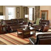 Clifford Motion Dark Brown Power Reclining Three-piece Living Room Set