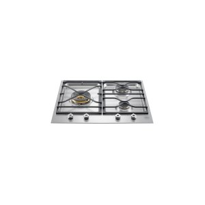 Bertazzoni24 Segmented cooktop 3-burner Stainless Steel