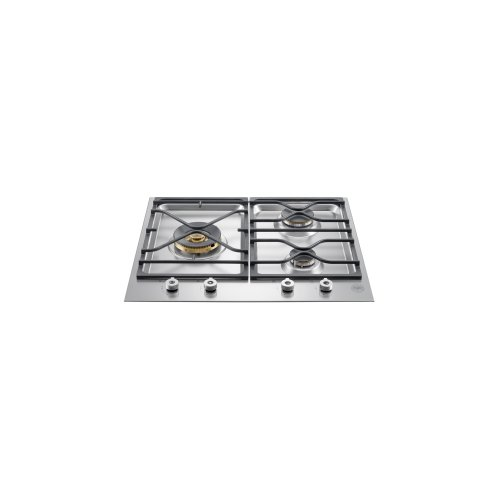 24 Segmented cooktop 3-burner Stainless Steel