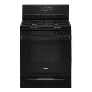 5.0 cu. ft. Whirlpool® gas range with SpeedHeat burner - BLACK