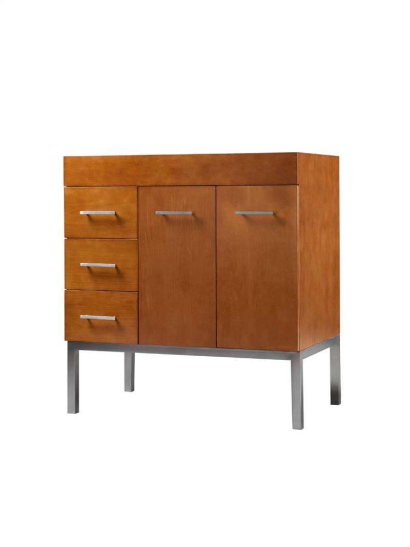 """Venus 31"""" Bathroom Vanity Base Cabinet in Cinnamon - Doors on Right, Metal Legs"""