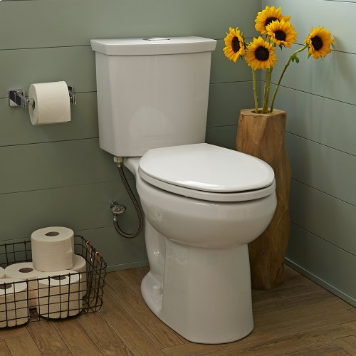 H2Option 15-inch Round Front Dual Flush Toilet - White
