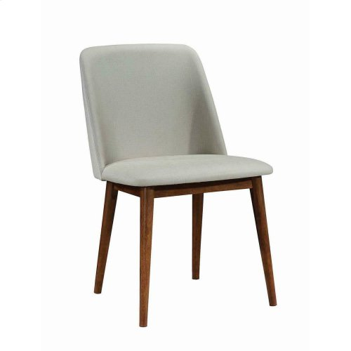 Barett Modern Grey and Chestnut Dining Chair