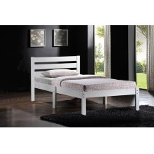 WHITE FINISH TWIN BED