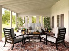 Castle Island - Dark Brown 8 Piece Patio Set