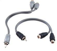 Bulk RCA Y-Adapter 1 male 2 female (25 pcs.)