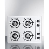 "20"" Wide 4-burner Gas Cooktop"