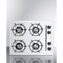 """24"""" Wide Gas Cooktop In White, With Four Burners and Gas Spark Ignition; Replaces Wtl033"""