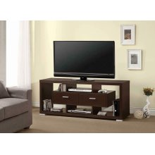 Transitional Cappuccino TV Console