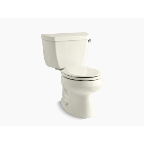 Biscuit Two-piece Round-front 1.28 Gpf Toilet With Class Five Flush Technology, Left-hand Trip Lever and Tank Cover Locks, Seat Not Included
