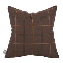 "16"" x 16"" Pillow Oxford Chocolate"