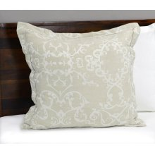 Lido Jacquard Natural 3Pc Euro Sham Set