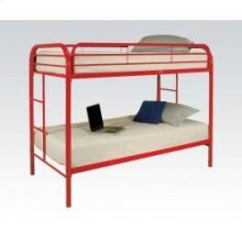 Red Twin/twin Bunk Bed