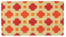 Doormat Dylan Red/Orange 18x30