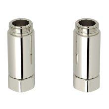 Polished Nickel Adaptor - Set Of 2