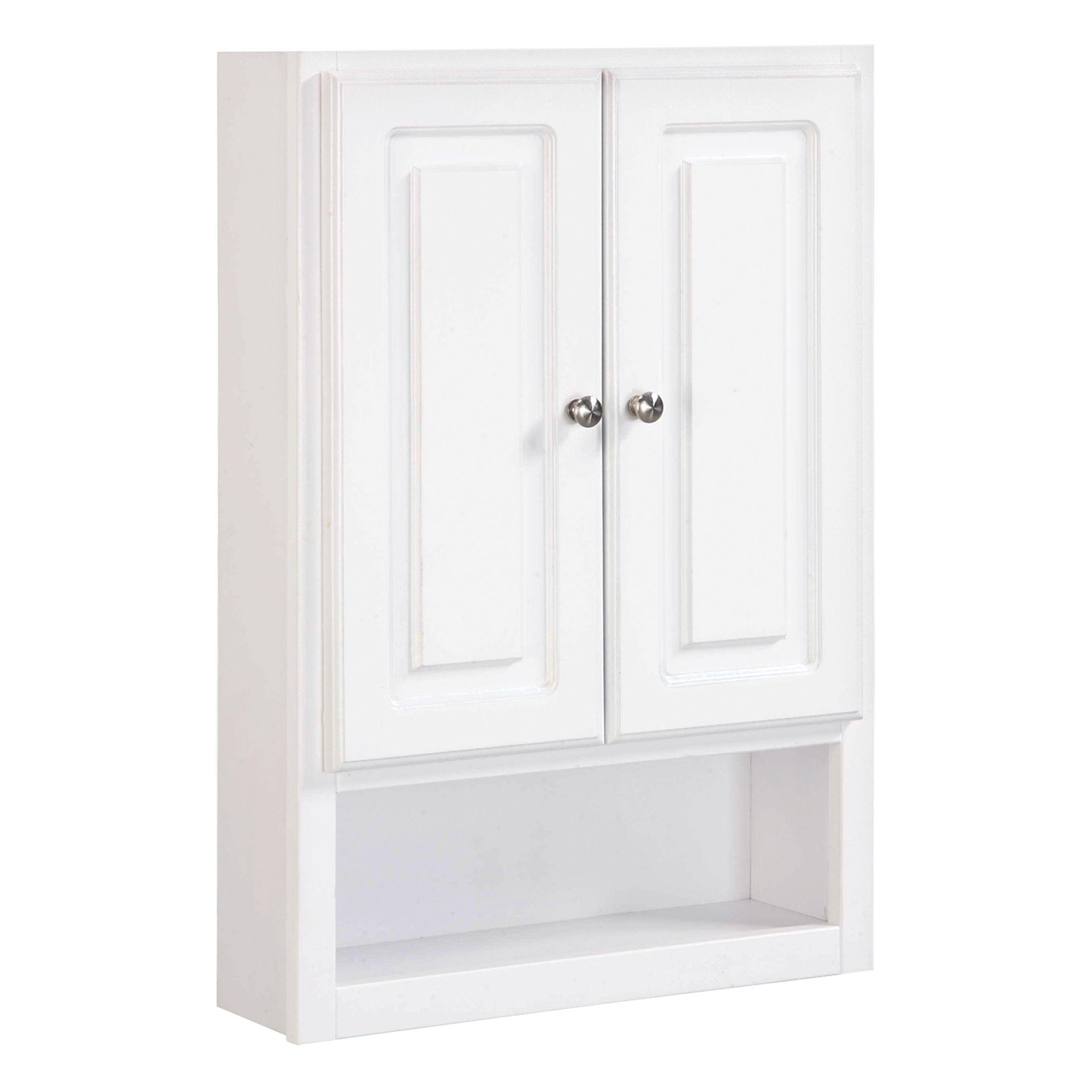 """Concord 2-Door Wall Bathroom Cabinet 21"""", White #531319"""